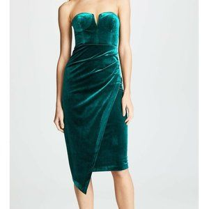 Yumi Kim  L Emerald Green Strapless Dress NWT BE26